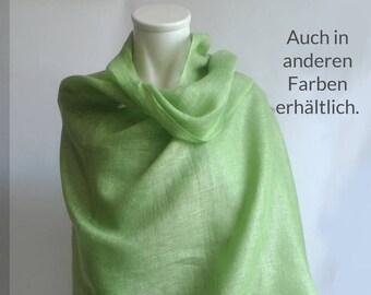 9657692d6d4199 Leinen Stola / großer Schal Grün