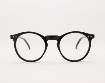 a7d79d0f4b Black round glasses. Optical prescription spectacles. Clear lens glasses.  30s