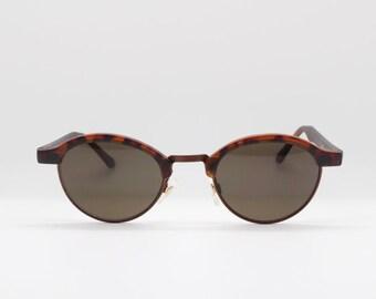 8ad6ababf668 90s vintage sunglasses. NOS half frame tortoise browline cat eye. Womens  cateyes. Catseye. Made in the UK. Unused original.