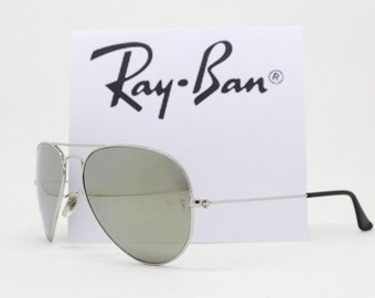 d292feaec41 Ray-Ban P classic aviator sunglasses. Silver mirrored lens. Made in Italy.  Raybans