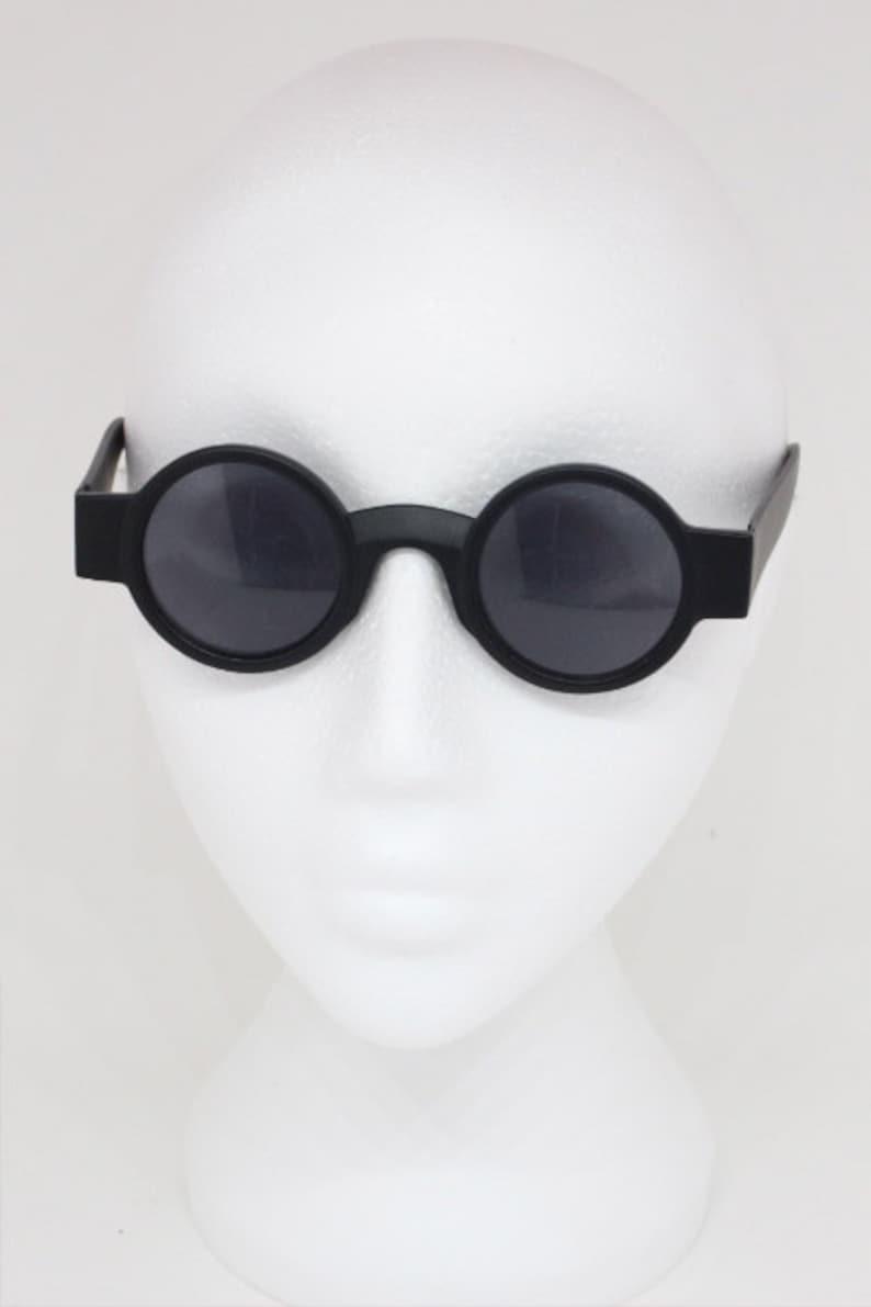 ad870eb28e2 90s sunglasses. Vintage tiny black matt round pure fashion