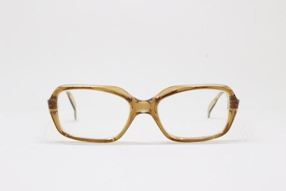 15fdbd3358f Original 60s French transluscent brown glasses by Ballade.