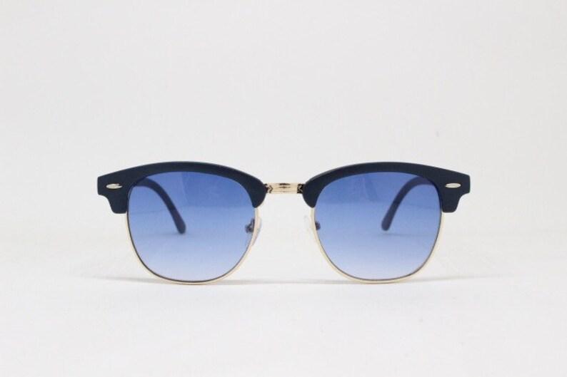 5c16b43b250c Clubmaster style sunglasses. Classic browline half frame.