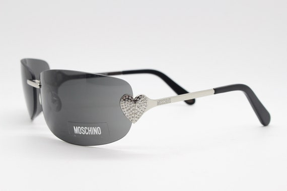 Moschino diamante silver heart Y2K vintage sunglas