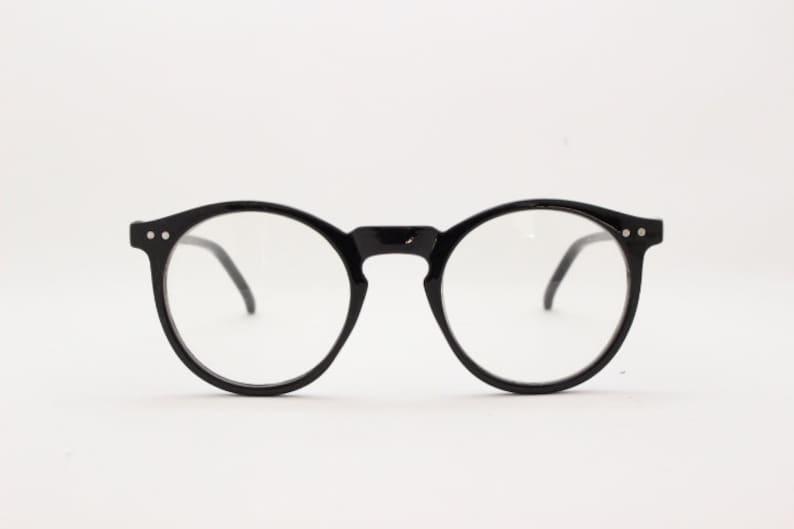 fb0d19f3dd65 Black round glasses. Optical prescription spectacles. Clear
