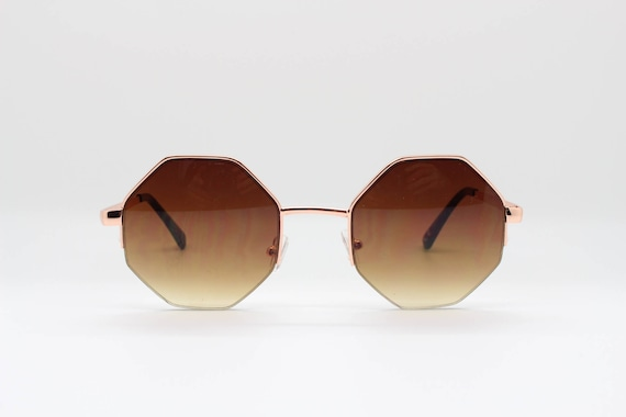56712971f26 Octagon sunglasses. Brown 8 sided 60s style glasses with