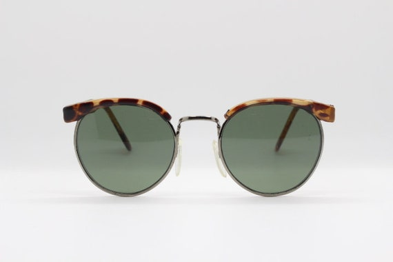 5e880d815b0 90s vintage sunglasses. Tortoise round clubmaster style half