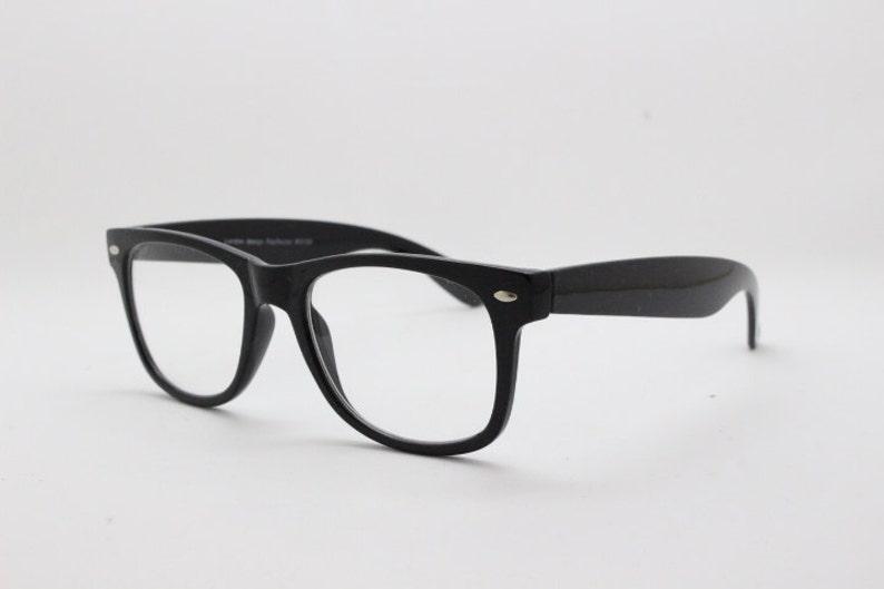 0203c48b1a6c Black wayfarer style glasses. Classic 40s design optical