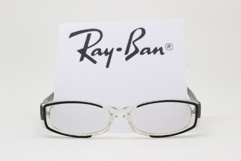 dbc0affbe801 Ray Ban glasses transparent acetate frame with black arms and