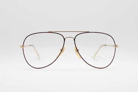 70s vintage 14k gold filled aviator glasses by Des