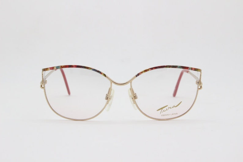 c31a85f03f43 Tura glasses designer eyewear pink frame 80s spectacles