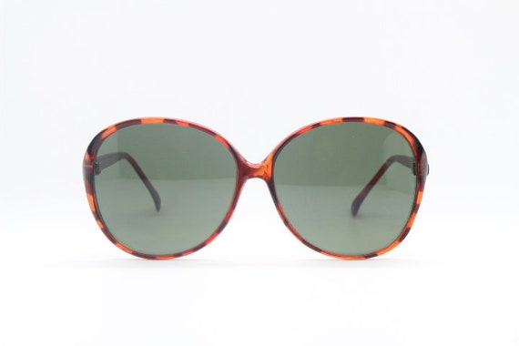 54c1de2e6b 80s vintage oversized round sunglasses Slim tortoise frame