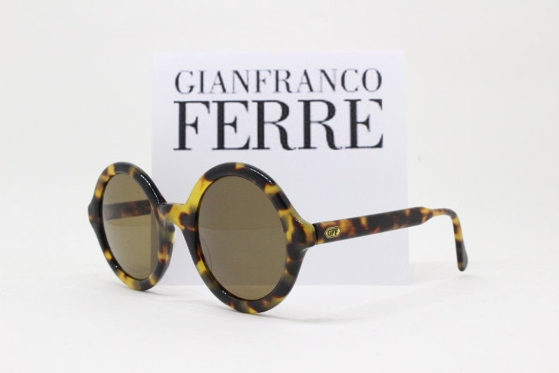 204d55c49db Gianfranco Ferre 90s vintage sunglasses made in Italy. round