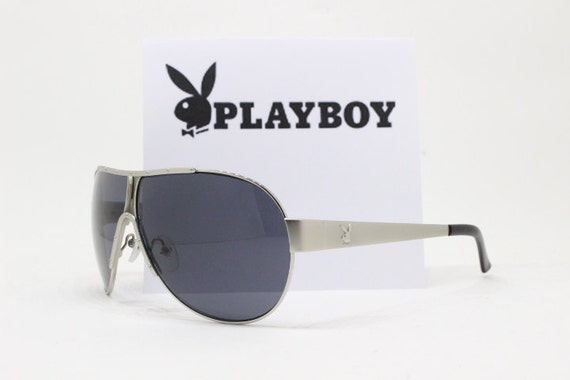 1e64676b854 Playboy vintage sunglasses. Original 90s aviator with silver
