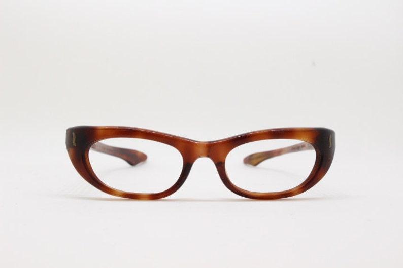 dfe3338abf91a Años 50 gafas vintage tortuga ojo marco originales gafas