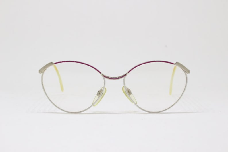 7ff0972d00 Vintage 80s pink and white designer spectacles by Duncker