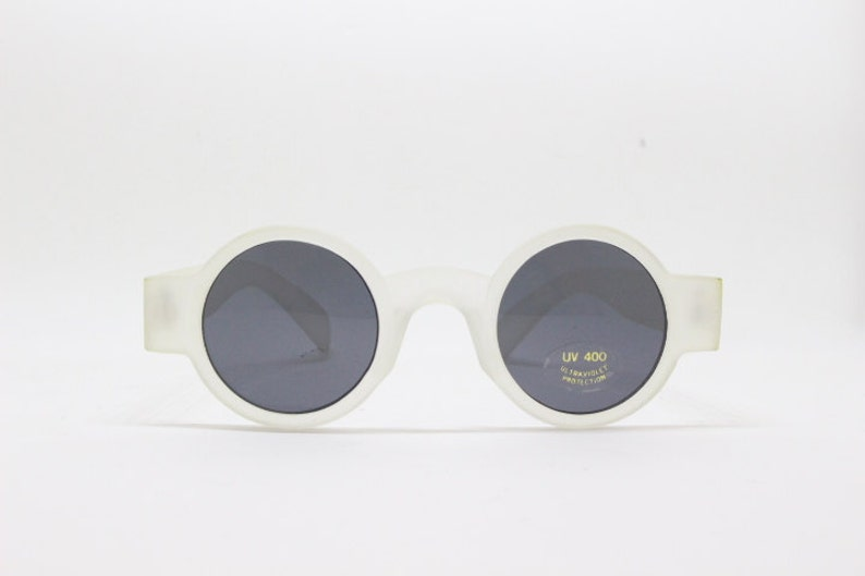 c6ed180048 90s sunglasses. NWT. Original vintage tiny frosted white matt