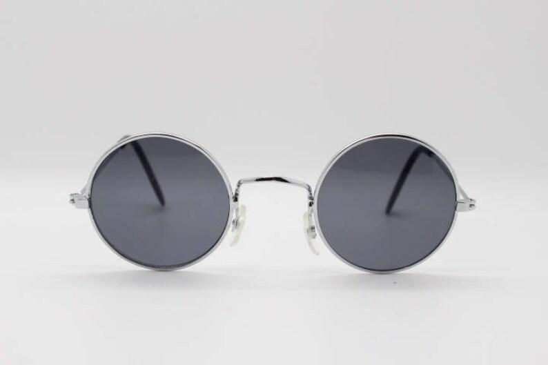 24a693c71774a 90 s round vintage sunglasses. Original NOS. Tiny silver