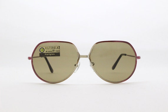 5d7f715fa1 Oversized sunglasses 70s glasses metal frame original