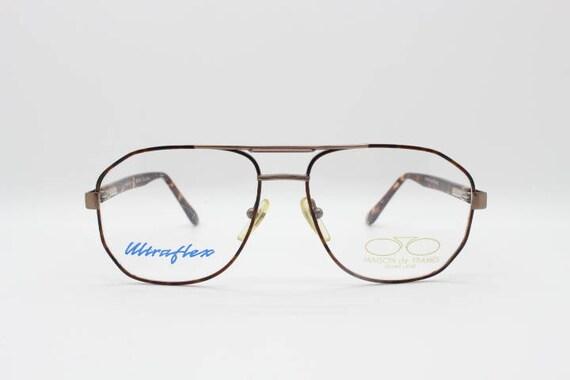 80s vintage angular square aviator glasses. Teardr