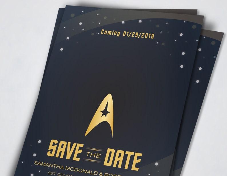 DIY Wedding Printables Star Trek inspired Wedding Set Invitation Kits NEW