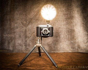 Table / Bedside Lamp (up-cycled 1950's camera)
