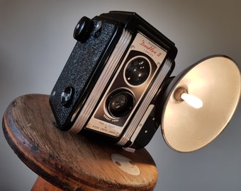 Table / Bedside Lamp (up-cycled 1940's camera)