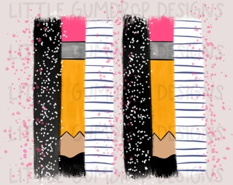 Pink pencil brush stroke design, pencil Bruch stroke, teacher brush stroke, teacher design, back to school design, pencil, brush stroke png