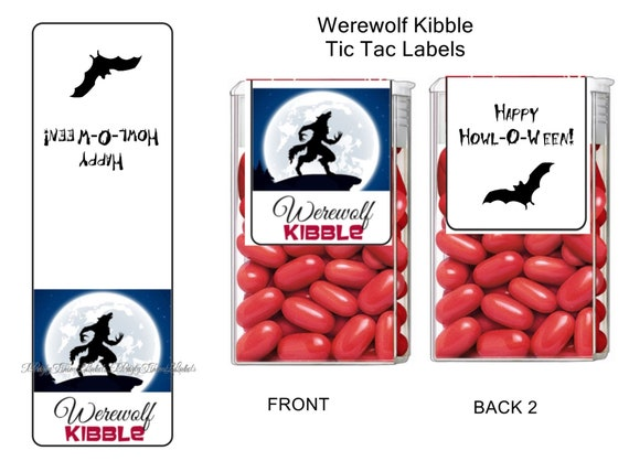 Mummy Mints Tic Tac Labels Halloween Party Favors 14 CT Printed Labels Tic Tac Stickers