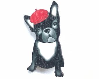 French Bulldog, Dog Enamel Pin Badge