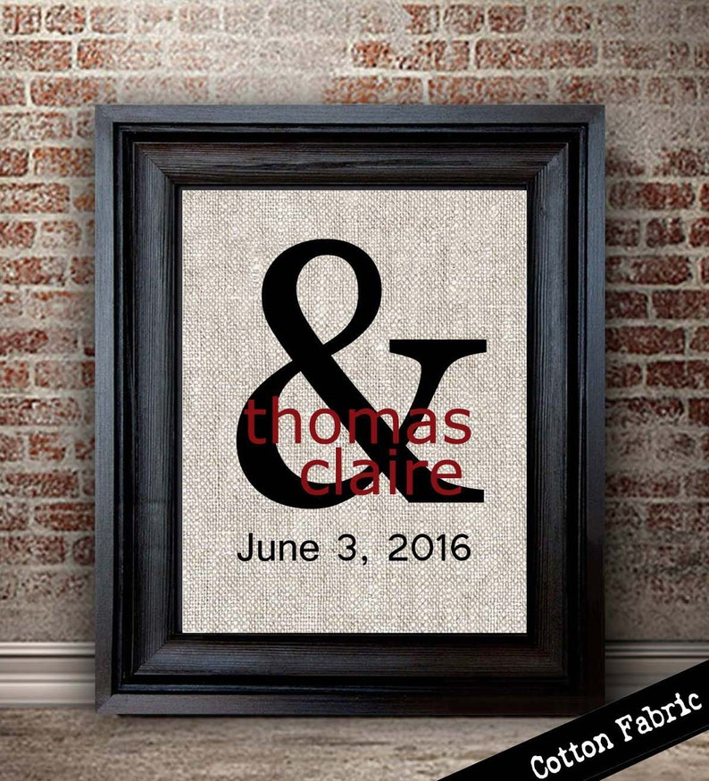 2 Year Anniversary Gifts Cotton Anniversary Gift Ampersand Etsy