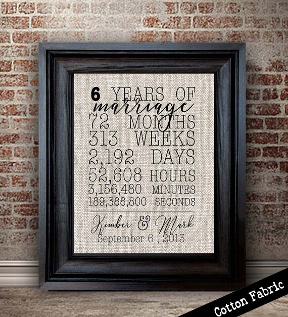 6 Year Anniversary Gift For Wife Girlfriend Gift Gift For Etsy