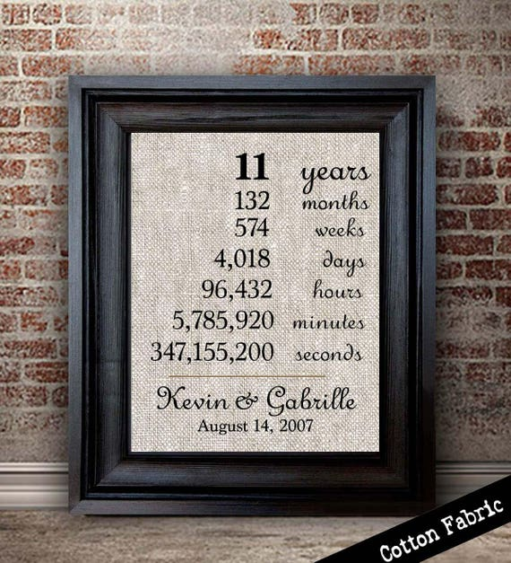 11 year anniversary gift 11th wedding anniversary gift for etsy