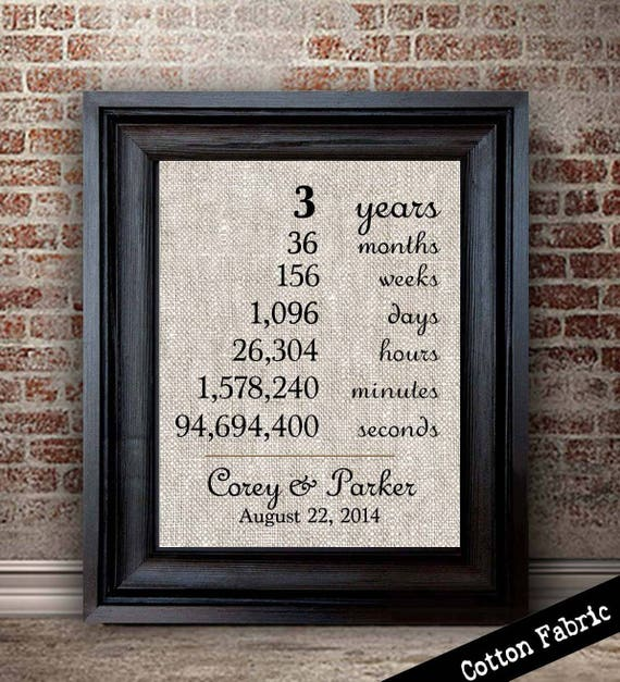 What Is The Gift For 3rd Wedding Anniversary: 3 Years Together 3rd Anniversary Gift Cotton Anniversary