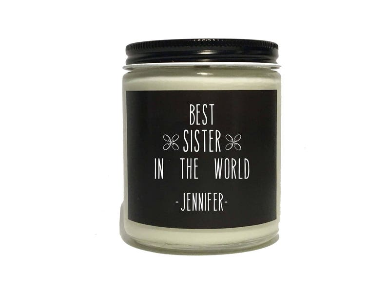 Older Sister Gift Stepsister Personalized Soy Candle