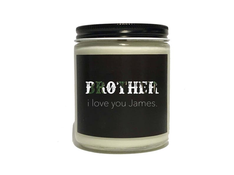 Older Brother Gift Personalized Scented Candle Younger