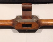 Rare, coach makers spokeshave, or router plane. Cast steel and rosewood wedge.
