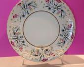 Vintage, hand painted, 10in, porcelain platter