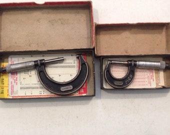2, Starrett Micrometers. Both In ORIGINAL Boxes