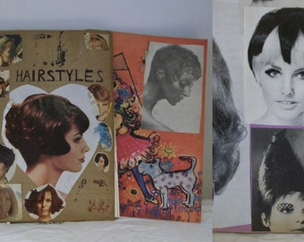 Collection of 3 1960s hairstyles / hairdressing scrapbooks Great reference