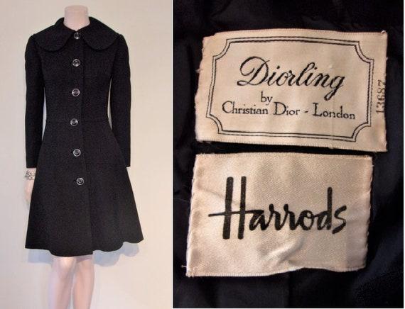 Superb late 1960s Diorling coat, fab silhouette bu