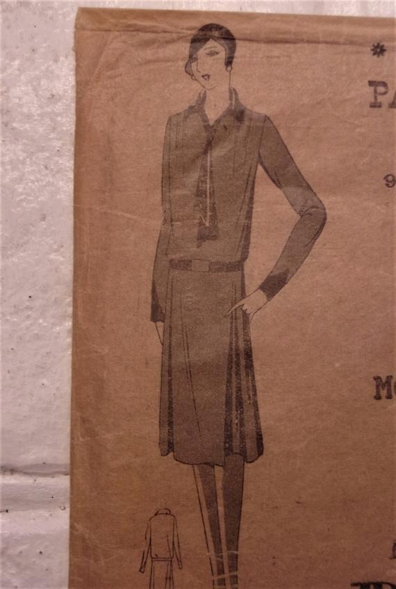 Década de 1920 aleta vestidos y Abrigo Vintage Patrón De Costura-Downton era