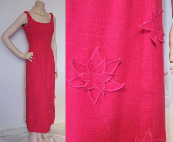 Superb 1960s Frank Usher moygashel linen gown w/sk