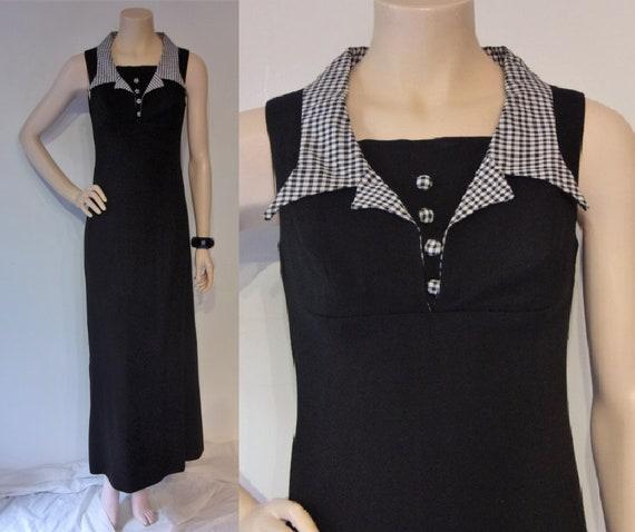 Fab late 1960s Dollyrockers empire maxi dress w/ov