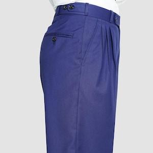 1940s Trousers, Mens Wide Leg Pants Classic Tango Pants Parliament BLue $105.06 AT vintagedancer.com