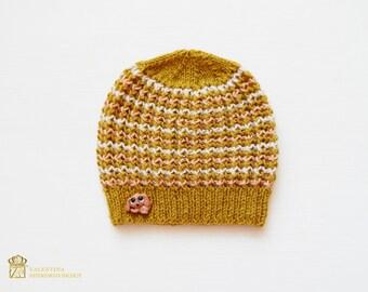 Crochet Baby Hat - Newborn Size - Hospital Hat - Newborn Boy Hat - Baby Boy Beanie - Newborn Crochet Hat - Baby Beanie - Spring Baby Hat