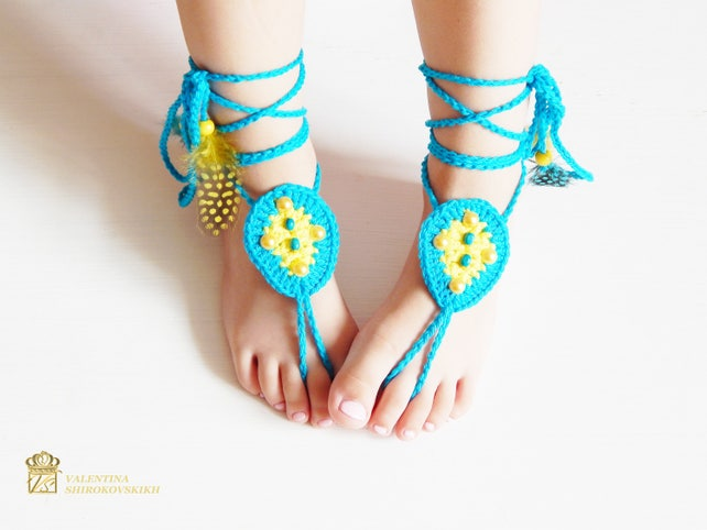 Häkeln Sie barfuß Sandalen. Häkeln Sie barfuss Sandalen für | Etsy