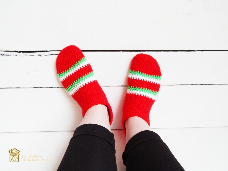 Elfen Socken. Pantoffel Socken. Weihnachtssocken. Weihnachten   Etsy