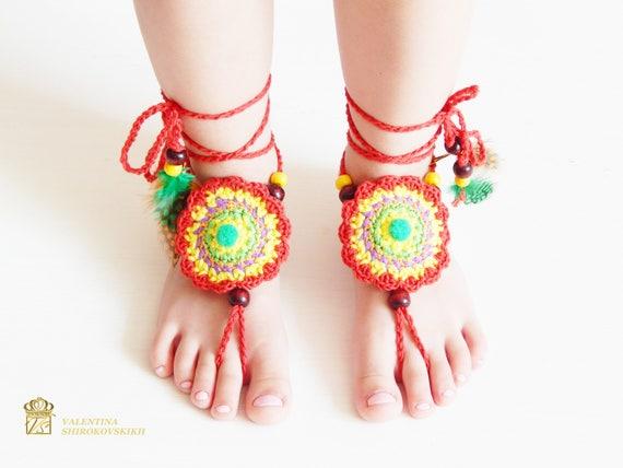 Gehäkelte barfuss Sandalen Baby Sandalen Hippie-Style | Etsy