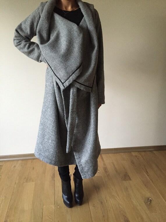661e8ce79c Sexy Winter Grey Coat / Wool Winter Gray Coat / Cappotto / | Etsy